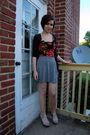 Gray-bdg-cardigan-black-forever-21-dress-gray-target-skirt-silver-antique-