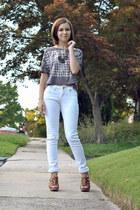 heather gray C&C California t-shirt - white asos jeans