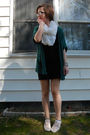 Green-silence-and-noise-cardigan-black-h-m-dress-white-h-m-scarf-beige-ked