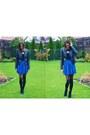 Black-pearlz-boots-black-pull-bear-jacket-blue-stradivarius-skirt