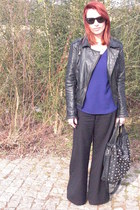 pull&bear jacket - Zara shirt - Parfois bag - Ray Ban sunglasses - vintage pants