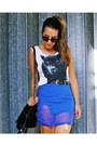 Black-studded-fringed-oasap-bag-blue-choies-skirt