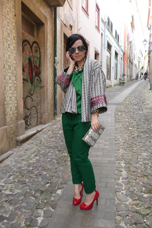 Sfera blouse - Zara jacket - Sfera pants