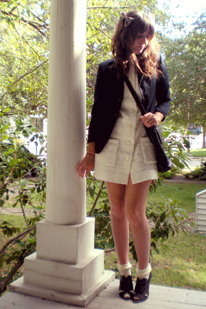 accessories - blazer - dress - Target socks - Urban Outfitters shoes