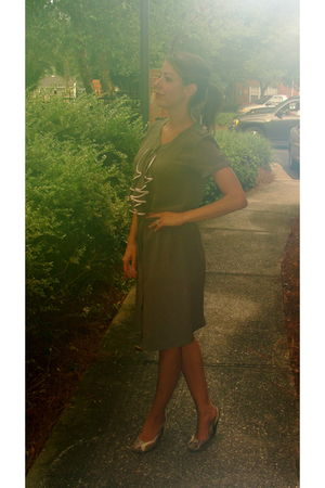 green viktor & rolf for h&m dress - beige Aldo shoes