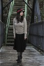 Black-veechay-hat-beige-mango-sweater-black-zara-skirt-black-hue-tights-