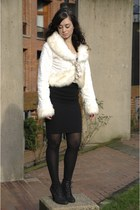 cream Hendi dress - black White House Black Market sweater - black wilfred skirt