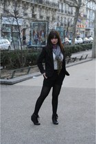 black Aldo boots - black Silence & Noise blazer - magenta Diwali scarf - black Z
