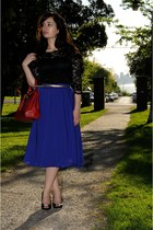 black asos dress - ruby red Aldo bag - deep purple H&M skirt - gold H&M belt - b