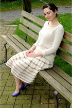 cream Talula Babiton sweater - light brown Club Monaco skirt - deep purple Rocke