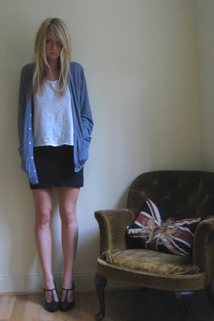 American Apparel sweater - Ebay t-shirt - old boobtube skirt - Primark shoes