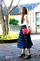 Karen Walker skirt - Japan shoes - Zara top