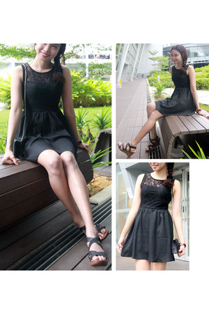 black agneselle dress - black Hush Puppies wedges