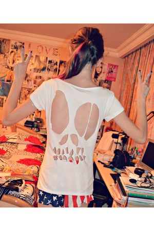 skull homemade c&a t-shirt