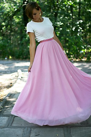 bubble gum handmade skirt