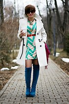 vintage accessories - blue no name boots - white Primark dress