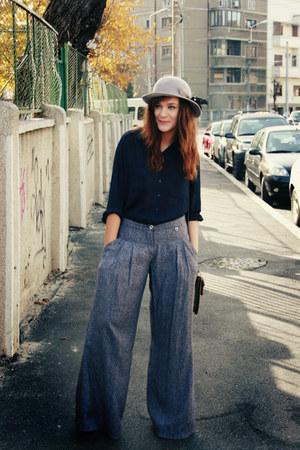 Mango pants - random brand shirt - vintage bag - vintage hat