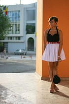 white River Island skirt - black vintage christian dior top