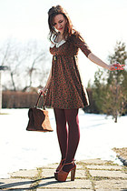 Stradivarius dress - vintage bag - Jessica Simpson sandals
