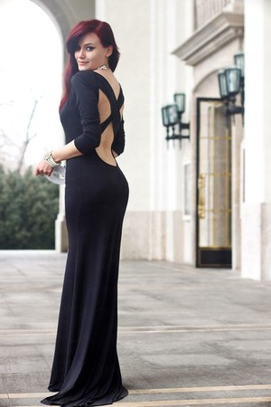 black Sheinside dress
