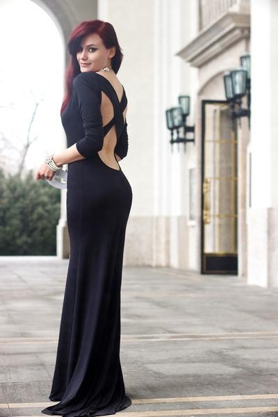 black Sheinside dress