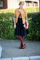 vintage Valentino skirt - Topshop boots - leopard print OASAP top