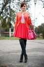 Hot-pink-suede-oasap-bag-red-river-island-skirt