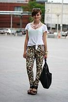 leopard print no name pants - black Steve Madden sandals