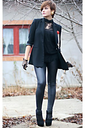 black Topshop boots - black New Yorker leggings