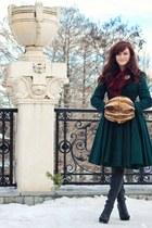 dark green circle handmade coat - tawny vintage accessories