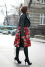 Black-leather-asos-jacket-light-purple-oasap-bag-red-printed-vintage-skirt