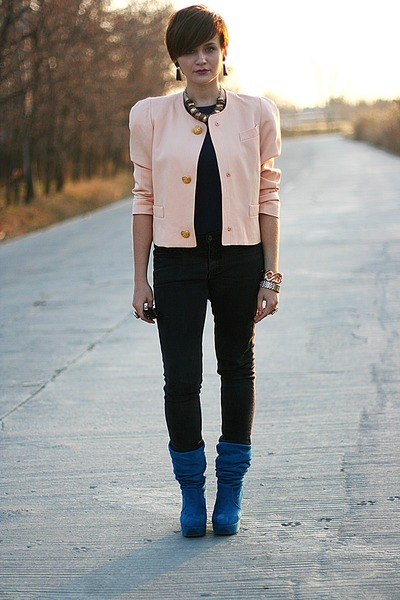 light pink vintage blazer