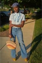 sky blue H&M jeans - vintage shirt shirt