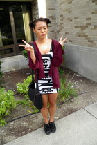 Forever 21 cardigan - creepers Primark shoes - American Apparel dress