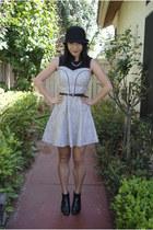 vintage heels - Primark dress - Forever 21 hat