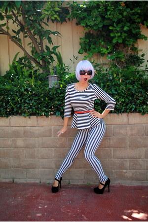 Forever 21 sunglasses - beetlejuice Love Culture pants - Charlotte Russe heels
