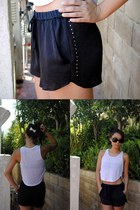 Charlotte Russe shorts - Forever 21 sunglasses - Urban Outfitters top