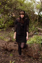 black FCUK dress - black H&M tights