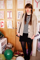 black American Apparel skirt - beige Nasty Gal cardigan