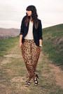 Black-zara-blazer-white-h-m-shirt-black-studded-heels-steve-madden-shorts