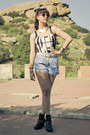 Dolcetta-boots-diy-vintage-shorts-tortoise-vintage-sunglasses