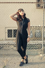 Flats-mesh-shoedazzle-shoes-black-pant-suit-motel-rocks-jumper