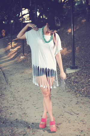 asos shoes - fringe DIY shirt - jean Insight shorts - Chanel sunglasses