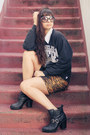Leopard-minkpink-skirt-ankle-dolcetta-boots-la-raiders-vintage-sweater