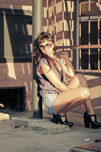 alka Miista shoes - slashers MinkPink shorts - Chanel sunglasses