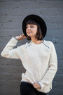 Ripped-just-fab-jeans-penelopes-vintage-hat-waffle-knit-vans-girls-sweater