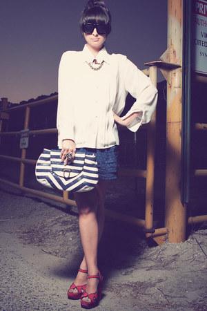 melie bianco bag - Top Shop shoes - Forever 21 shorts