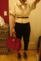 gambattista valli jacket - H&M belt - Zara pants - Hermes purse - GoJane shoes