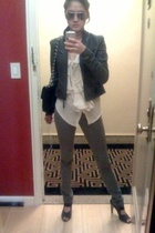 Yaya Aflalo jacket - Bill Blass blouse - superfine jeans - alaia shoes - Chanel