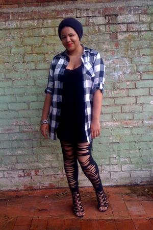 H&M shirt - bronx shoes - SelectDIY leggings - H&M hat